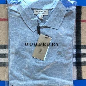 Burberry Shirts - BURBERRY LONDON GREY MEN POLO
